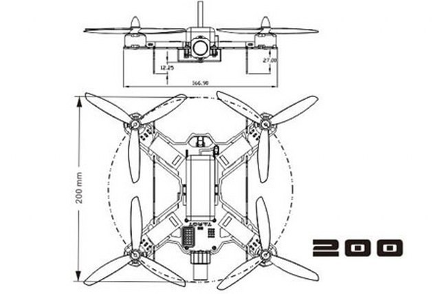 tarot tl200a mini 200mm 4 axis quadcopter frame kit in india rh gadgetsdeal in Residential Electrical Wiring Diagrams 3-Way Switch Wiring Diagram