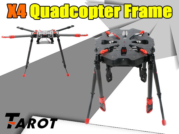 Tarot X4 960mm 4-Axis PCB Center Plate Folding FPV Quadcopter Frame Kit in  India